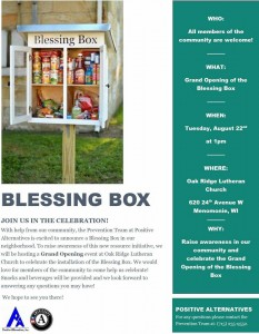 blessing box flyer